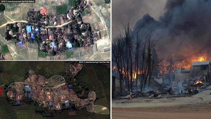 Mengerikan, Desa-desa Muslim Rohingya Dibakar dan Dihancurkan