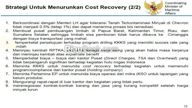 Bocor, Inilah Dokumen Negara Tekan 'Cost Recovery' dari Limbah Chevron