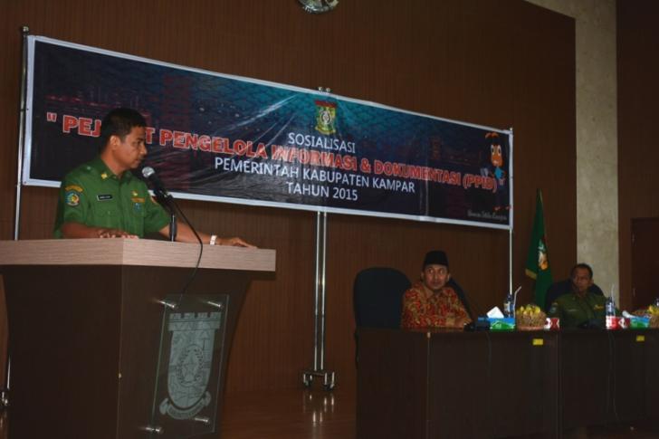 Sabaruddin: Informasi Bagian Penting Ketahanan Nasional, Kampar Terapkan PPID