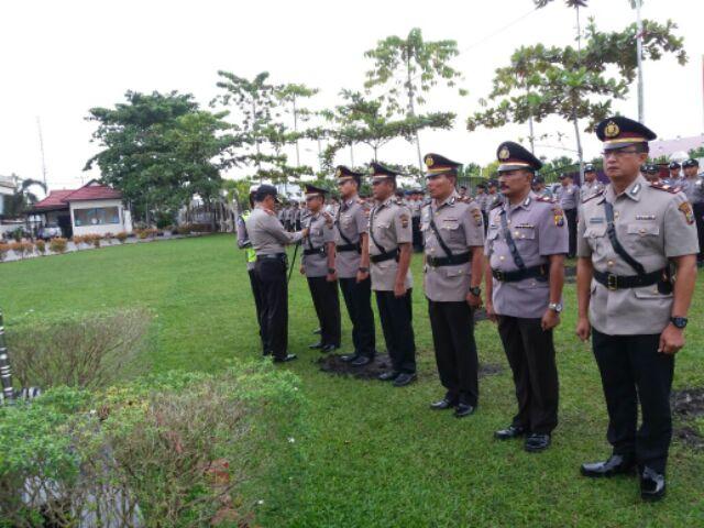 Dalam Rangka Promosi Jabatan, Tiga Perwira Polres Pelalawan Mutasi