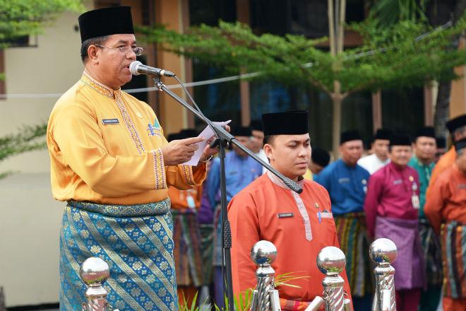 Jelang Pelantikan Bupati Terpilih, Ahmad Syah Harrofie Pamitan dengan Pegawai