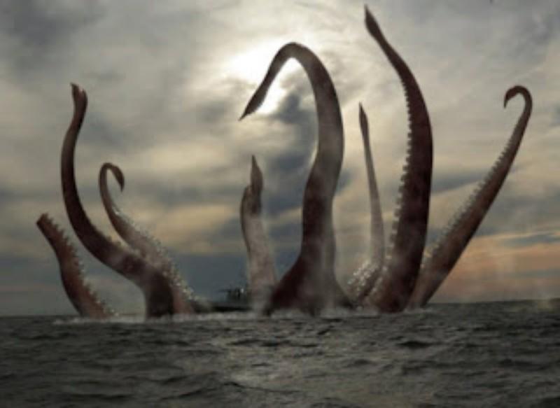 Wah, Seseorang Deteksi Raksasa Kraken di Tengah Laut
